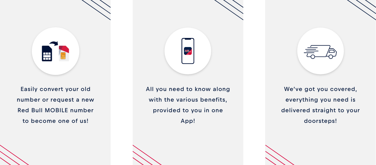 Red Bull MOBILE Benefits